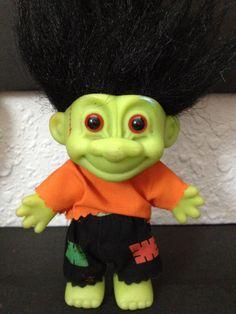 Frankenstein Troll Doll Russ Circa 1992 by BlingThings on Etsy