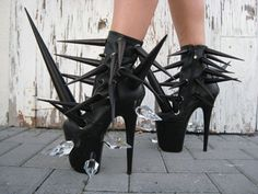 Gasoline Glamour redifines spike heels - gratefully repinned by RokStarroad.com ~ unleash your inner RokStar - fashion, pop and mental health
