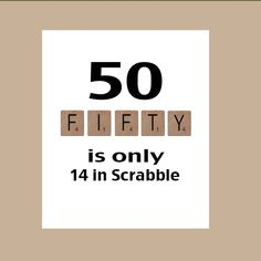 50th Birthday Card Milestone Birthday Scrabble by DaizyBlueDesigns, $4.00