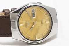 Vintage Seiko 5 Automatic Day-Date 17-Jewels Men's Wrist Watch GS-145