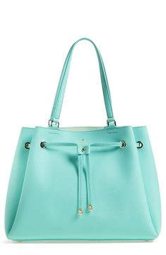 Kate Spade New York 'Cape Drive-Lynnie' Drawstring Tote Handbag, in Mint