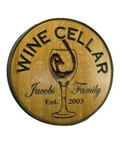 "Look what I found on #zulily! 'Wine Cellar' Personalized Barrel Head #zulilyfinds www.LiquorList.com ""The Marketplace for Adults with Taste"" @LiquorListcom"