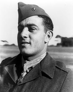 Sergeant John Basilone, awarded the Medal of Honor for his determined stand on Guadalcanal.
