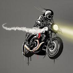 Motorcycle Art by Hamerred49 49