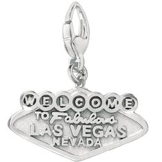 Sterling Silver Las Vegas Charm, Women's, 12 mm wide x 20 mm long All weights and measurements are approximate and may vary slightly from the listed information