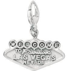 Sterling Silver Las Vegas Charm Women's
