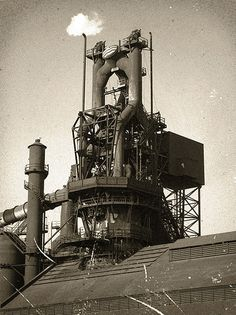 Marc, Blast furnace at Ford River Rouge plant located in Dearborn, Michigan Ford Motor Company, Henry Ford, State Of Michigan, Dearborn Michigan, Detroit Vs Everybody, Detroit History, Industrial Machinery, Steel Mill, Detroit Area