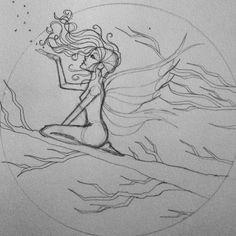 Did some more work on the fairy tattoo design today.  #art #artofinstagram #draw #drawing #drawingsofinstagram #sketch #sketchbook #illustrator #illustration #myart #myartwork #creative #winnipegartist #winnipegart #winnipeg #instacool #instagood #instaart #instaartist #lineart #girl #fairy #fantasy #tattoo #pencilsketch  #pencil