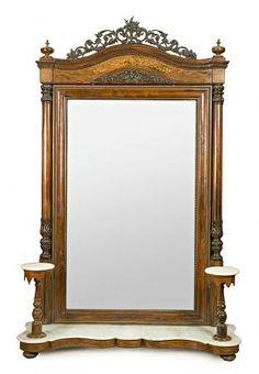 espejo de entrada en estilo isabelino