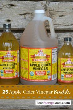 25 Apple Cider Vinegar Benefits by Food Storage Moms Love the tip for sunburns and age spots!