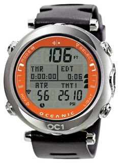 New Oceanic OC1 Dive Computer with FREE Online Training (Orange-w/o Transmitter)