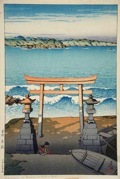 1925 - Hasui, Kawase - Tabi miyage dai sanshu: Boshu Taikai (Souvenirs of Travel, Third Series: Pacific Ocean, Boshu)