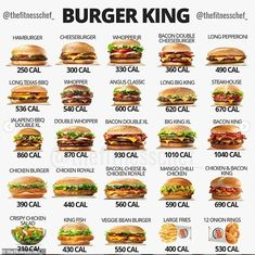 ollow us - 🍔Ever wonder how many calories are in these fast food items? - Here is a cool breakdown showing you them all! - Tag a friend Low Calorie Fast Food, Healthy Fast Food Options, Fast Healthy Meals, Healthy Snacks, Healthy Recipes, Fast Foods, Eating Healthy, Diet Recipes, Low Carb