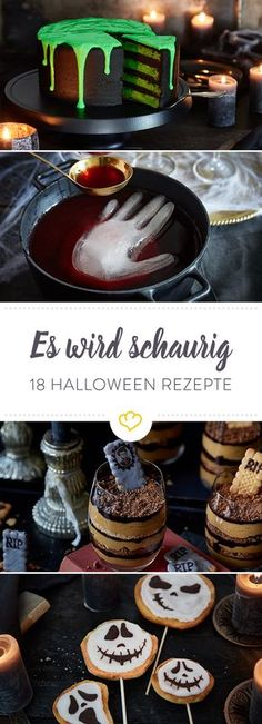 Halloween recipes: 18 scary-beautiful treats- Halloween-Rezepte: 18 schaurig-schöne Leckerbissen Trick or Treat! For Halloween, we have picked out sweet and savory recipes that look awesome, but taste terribly good!
