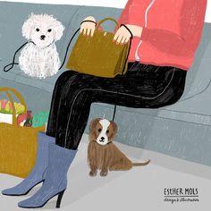 Doggies in the subway