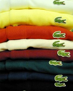 Lacoste polo shirts. When I was a kid I loved IZOD/LACOSTE polo shirts & Vans. I didn't have a favorite pants brand for some reason, but I should have.