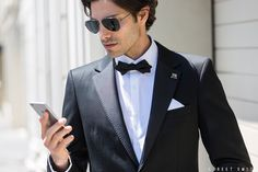 The ever-suave Colin Gold in the Calibre Noir Tux. Shot by the Street Smith.