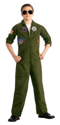 LICENSED TOP GUN BOMBER JACKET PILOT AIRFORCE 1980S CHILD BOYS COSTUME