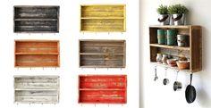 Rustic Double Wall Shelf | 6 Colors!