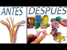 pajitas mas de 100 ideas para reciclar, reutilizar sorbetes de refresco faciles y creativas, regalar - YouTube