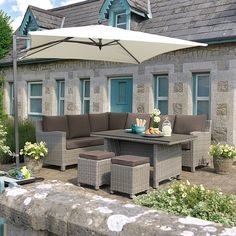 Palma Casual Dining Corner White Wash: The Palma Corner Set is made from hand woven weather-proof weave and comprises of two 3 seater benches and two All Weather Garden Furniture, Outdoor Furniture Sets, Outdoor Decor, Dining Corner, Conservatory, Weaving, Garden Centre, Patio, House