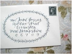calligraphy envelope with border