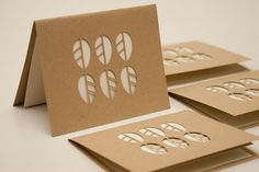Recycled Note Card Set of Four Cut Paper by starflycreations