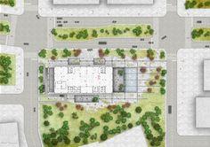Mecanoo Wins Competition to Design Tainan Public Library,Ground Floor. Image © Mecanoo architecten