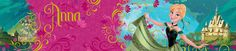 Disney Frozen Anna 5m Wallpaper Border Official Disney merchandise High quality wallpaper border   Create a Disney Frozen themed room with minimal fuss or effort with this official wallpaper border. The self adhesive backing makes the border incredibly easy to apply, with no need for messy glue or paste.