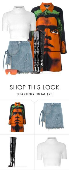 """""""x"""" by lmichellexo ❤ liked on Polyvore featuring Moschino, Sandy Liang, Glamorous and Rick Owens"""
