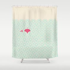 Pink Whale Shower Curtain