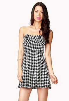 Sweetheart Houndstooth Dress | Forever 21 - 2047162944