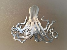 Great Octopus Metal Wall Art. Ocean Life Saltwater Series. Octopus