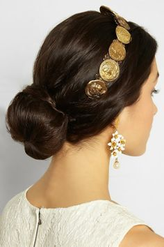 The Daily Bauble: Dolce & Gabbana Roman Gold Coin Headband