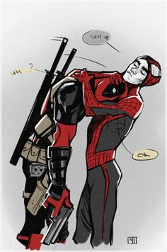 Read 💜Mini Comic Spiderpool 💜 from the story Imágenes Yaoi DC y Marvel by almene_asesina (loka del yaoi) with reads. Deadpool X Spiderman, Spideypool, Superfamily, Marvel Dc Comics, Marvel Heroes, Marvel Avengers, Sapo Meme, Manga Anime, Mini Comic