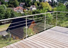 Guard - All About Balcony Balcony Glass Design, Glass Balcony Railing, Balustrade Inox, Balustrade Balcon, Balcon Grill, Staircase Handrail, Steel Railing, Railing Design, Modern Patio