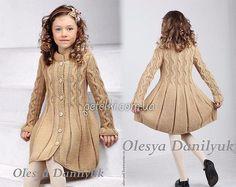 Красивое пальто спицами для девочки. Схемы, выкройки