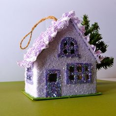 Purple glitter cottage by chinamommy