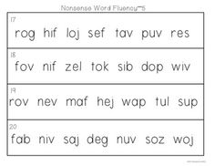 Fluency Practice Strips for the Primary Grades. Fluency strips in this order: letters, nonsense words, punctuation practice, Fry's sight words, Fry's phrases, Dolch sight words, Dolch phrases. Good practice for guided reading, RTI groups, and more! $