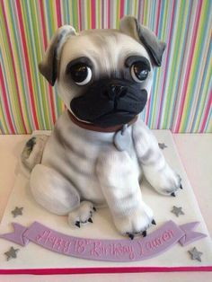 A pug cake! That is awesome!!!