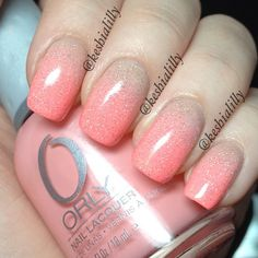 Orly & China Glaze Fairy Dust for a light, spring, pretty, fresh look!