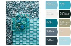 Create a cool palette for your home using images from the ocean, like this photo of sea glass. Get started at SnapYourColors.com.