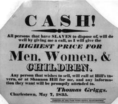 Advertisment for slaves