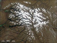 dendritic highlands of Putorana Plateau, Russia    image courtesy Jeff Schmaltz