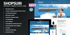 Shopsum - Responsive Commerce Business Solution - ThemeForest Item for Sale