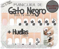 How to make black cat manicure nail art design Nail Design, Nail Art, Nail Salon, Irvine, Newport Beach Cat Nail Art, Cat Nails, Full Body Wax, Nail Art For Kids, Magic Nails, Nail Tutorials, Manicure And Pedicure, Nail Arts, Halloween Nails