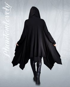 DARKNESS Hooded Jacket Cloak Thumbhole Sleeves par phantomlovely