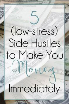 5 side hustles to make you money immediately