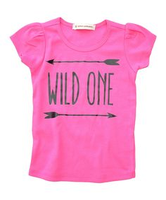 Look at this Wonder Me Hot Pink 'Wild One' Top - Infant, Toddler & Girls on #zulily today!