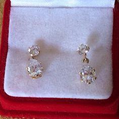 10kt Cz Lovely Jewelry Earrings